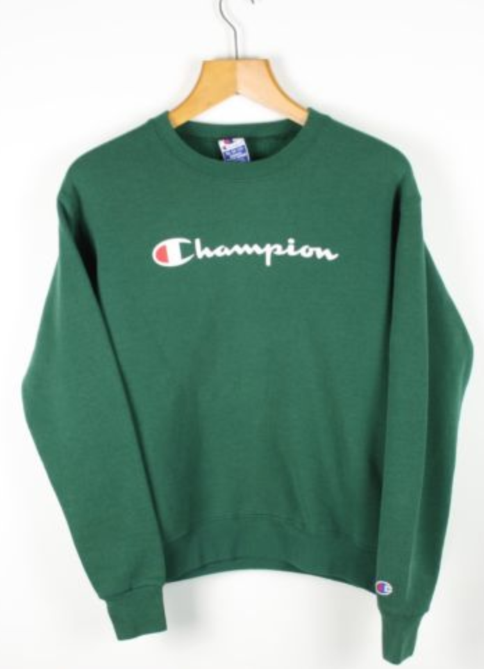 6f794d0e3b4c FOR SALE  Vintage Women s CHAMPION USA Green Sweatshirt Jumper ...