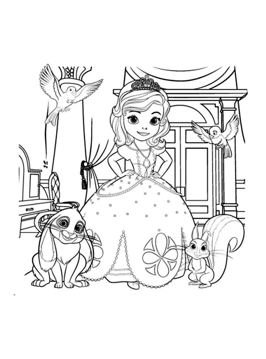 Pour imprimer ce coloriage gratuit coloriage princesse sofia disney 12