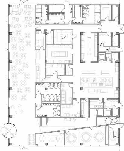 Roche Canteen EXH Design House Plans Cafeteria