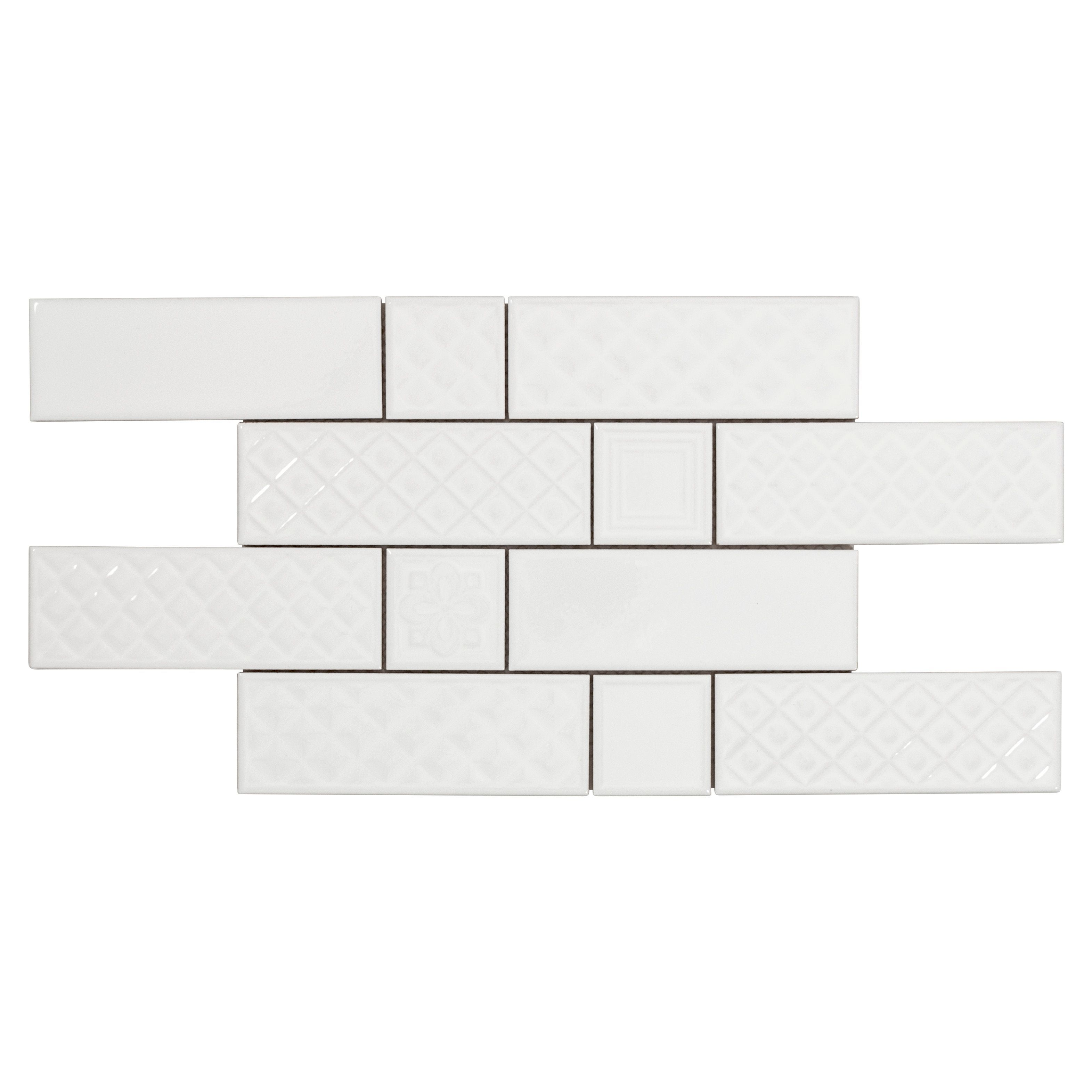 Boutique Ceramic Boutique Crafted White 3x12 3 In X 12 In Ceramic Wall Tile Common 3 In X 12 In Actual 2 99 In X 1 In 2020 Mosaic Wall Tiles Mosaic Wall Wall Tiles
