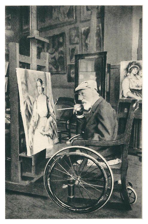 Pierre Auguste Renoir nel suo studio, 1914