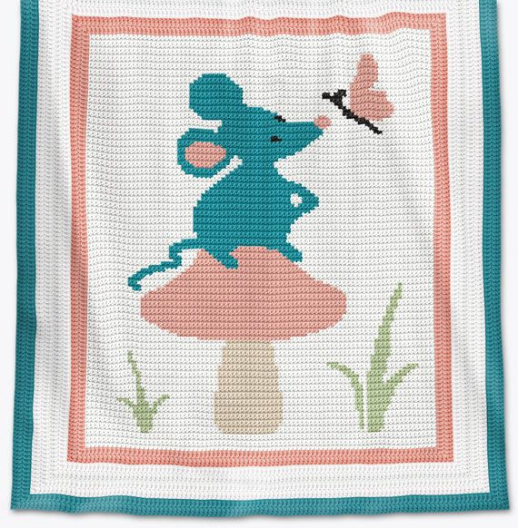 CROCHET Pattern Baby Blanket Pattern Forest Mouse | manta afgana ...