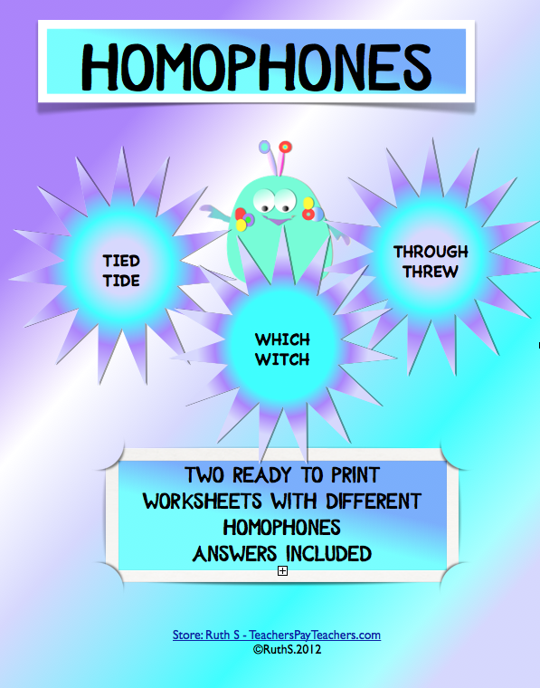 FREE Homophones ready to print student worksheets with answers ...