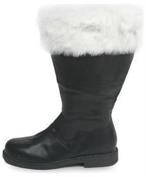 Black Santa Claus Kris Kringle Christmas Costume Shoes Boots Mens size 11 12 13
