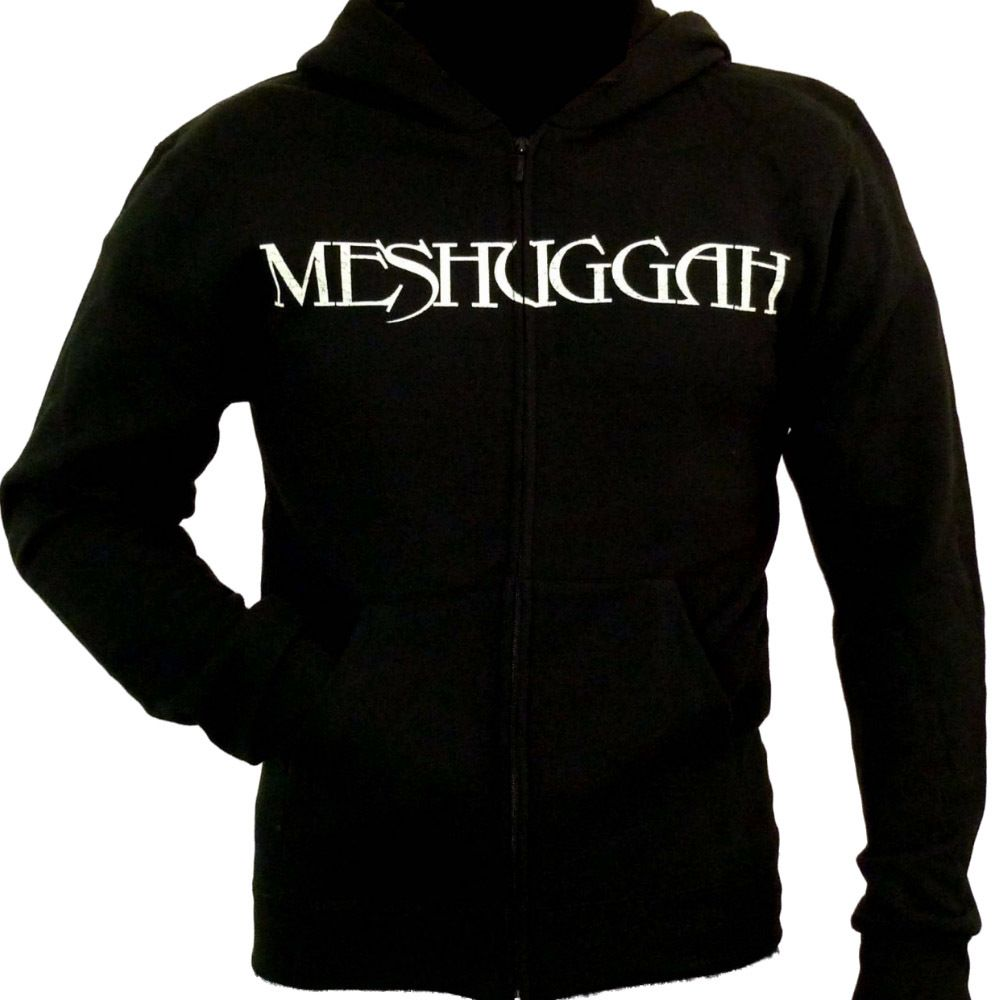 badhabitmerch MED-2XL New Meshuggah Spine Head Logo Zip-up Hoodie Shirt