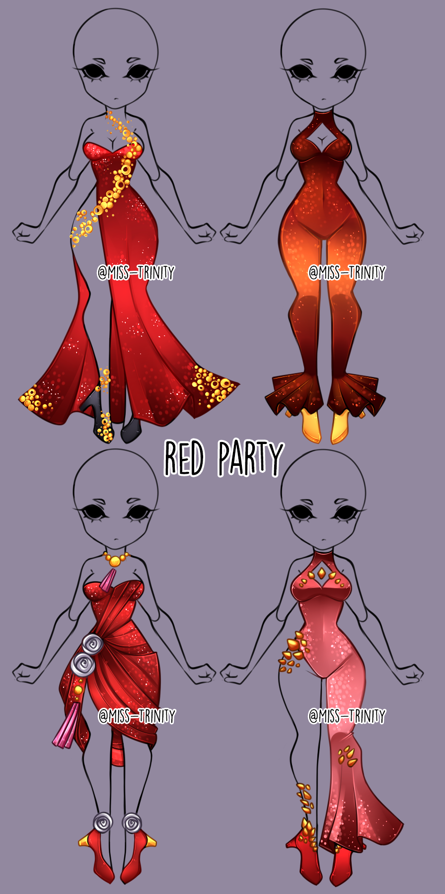 Red Party Outfit Adopt Open By Miss Trinity On Deviantart In 2020 Drawing Anime Clothes Fashion Design Drawings Anime Drawings Tutorials