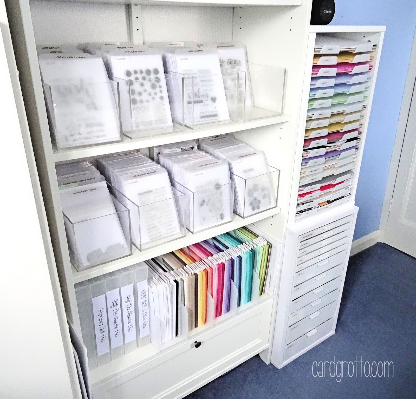 Craft Room Clear Stamp Storage Bjl Craft Room Ideas