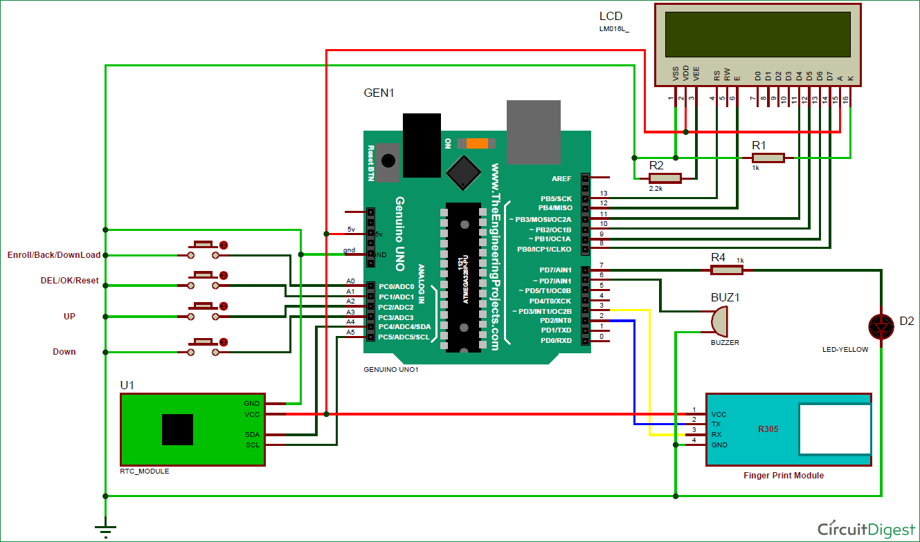 medium resolution of image full view circuit digest fingerprint attendance system arduino circuit circuit diagram