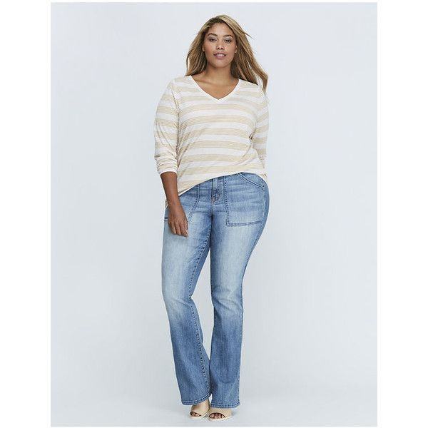 Lane Bryant Plus Size Metallic Striped Long-Sleeve V-Neck Tee ($35) ❤ liked on Polyvore featuring tops, t-shirts, plus size, tan stripe, striped t shirt, long sleeve v neck t shirts, long sleeve v neck tee, striped long sleeve t shirt and long sleeve tees