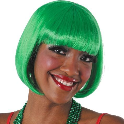 Green Bob Wig - Elf Costumes, Accessories - Christmas - Holiday ...