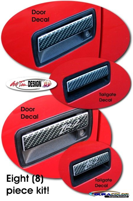 Vehicle Specific Decal Kits For Chevrolet S10 Gmc Sonoma That Are Precut And Ready To Install Gmc Carbon Fiber Door Handles