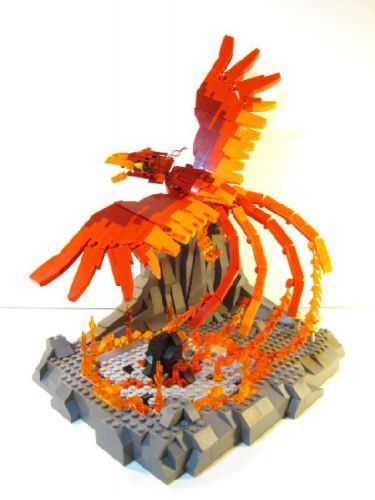 the Phoenix: A LEGO® creation by Alan C : Ember the Phoenix: A LEGO® creation by Alan C :