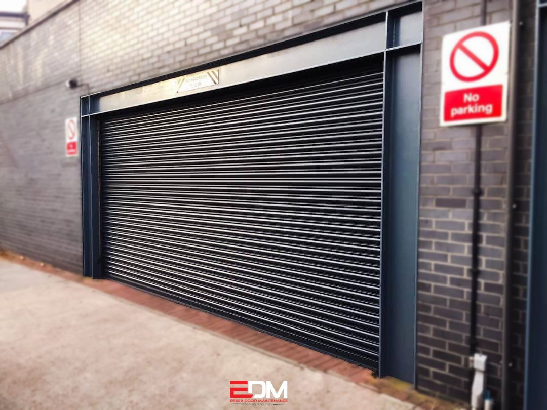 Commercial Steel Roller Shutters Supplied And Fitted By Edm In London As An Experienced Roller Shutter Comp Steel Security Doors Security Door Roller Shutters