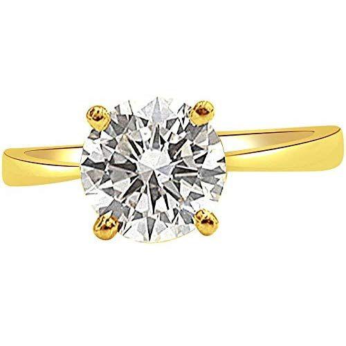 628d597c8856 Surat Diamonds 18KT Yellow Gold and Diamond Ring for Women