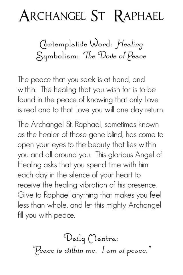 St. Raphael die Erzengel Zitate