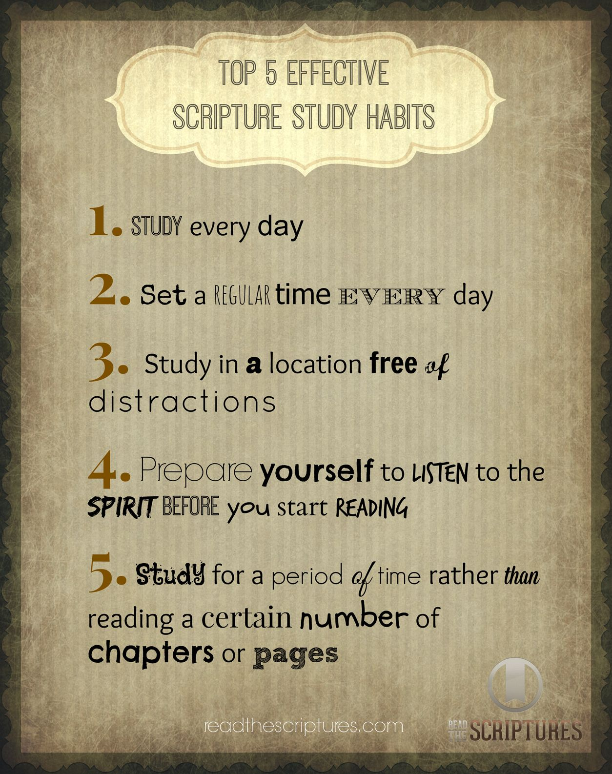 5 Effective Scripture Study Habits. CLICK to see how Read the Scriptures can help you with your scripture study! readthescriptures.com #lds #scriptures #bookofmormon