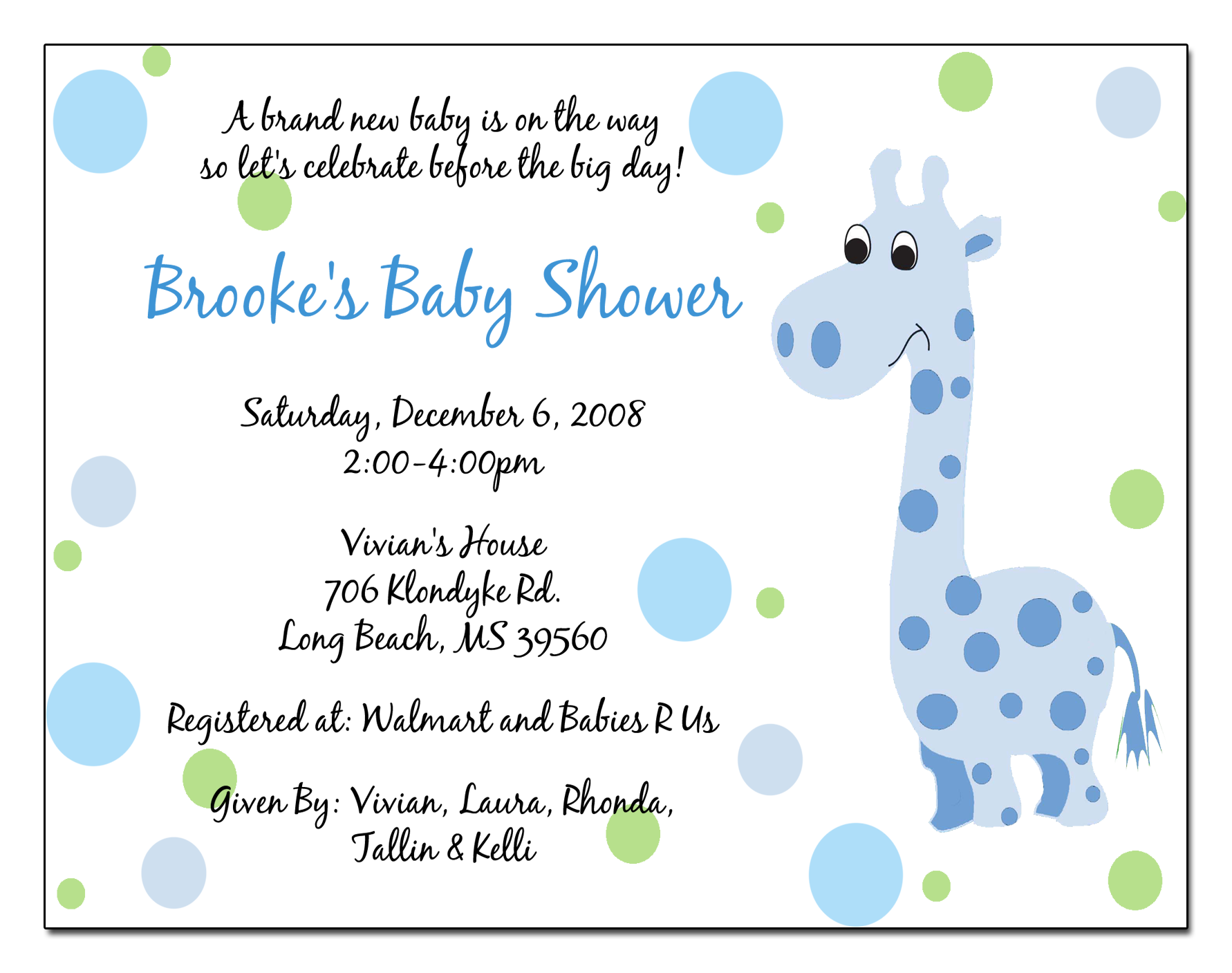 Collection of hundreds of free birthday invitation picture from all giraffe baby shower invitation wording light blue and black text bubble baby shower invite of cute baby shower invitation wording templates for your filmwisefo Image collections