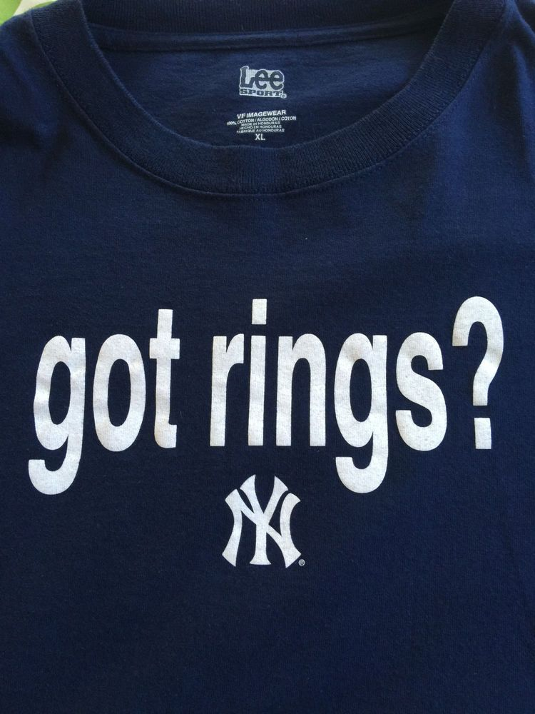 857f6301e5841e NEW YORK YANKEES MLB BASEBALL GOT RINGS   SHIRT 2007 RED SOX RIVALRY ADULT  XL  LEESPORT  NewYorkYankees
