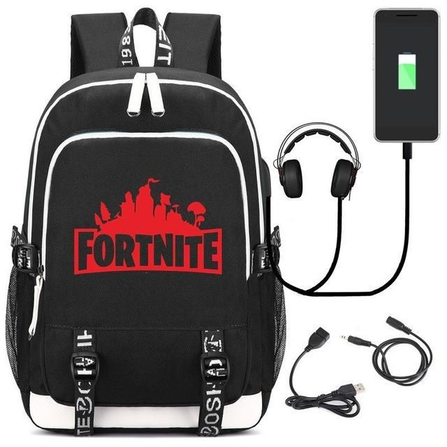 4126228d8d 2018 New Game Fortnite Battle Royale Printing Backpack Unisex Travel Bags  Canvas School Bags USB Charge Laptop Backpack