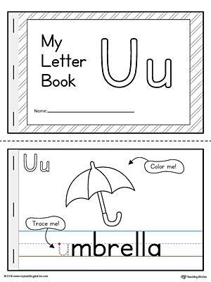 Letter U Mini Book Printable Lettering Book Letters Mini Books Free printable letter u worksheets