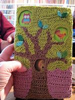 crocheted book