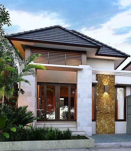 desain rumah mewah 1 lantai model terbaru bargaya modern