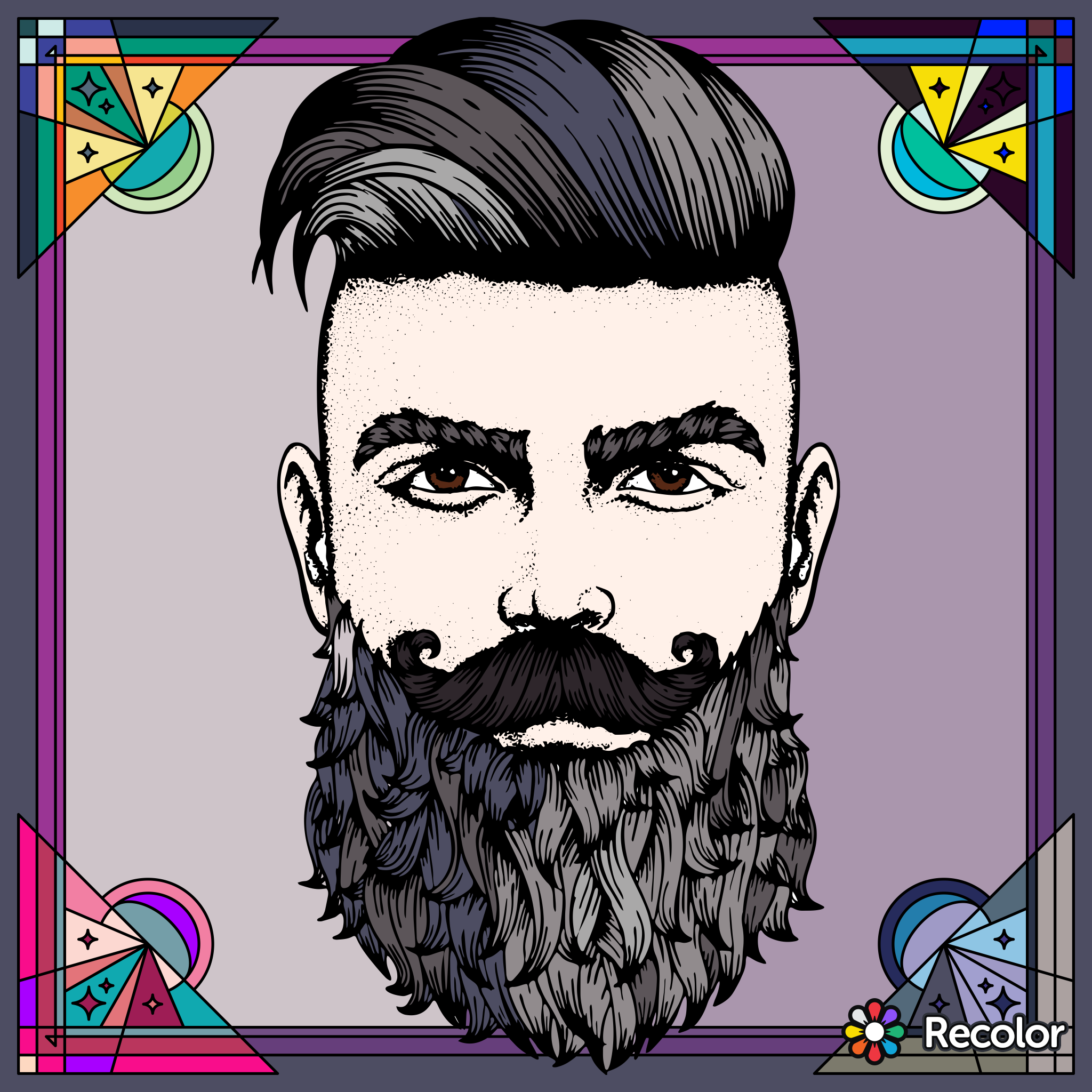 Coloring | Hairstyle ideas | Pinterest | Hipster beards