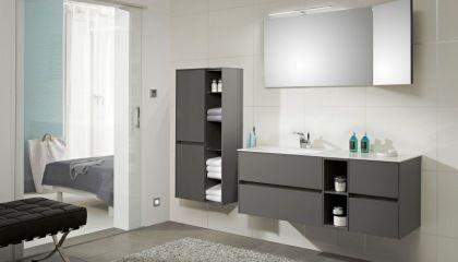 Stylisches Badezimmer in grau - Möbel Mit www.moebelmit.de ...