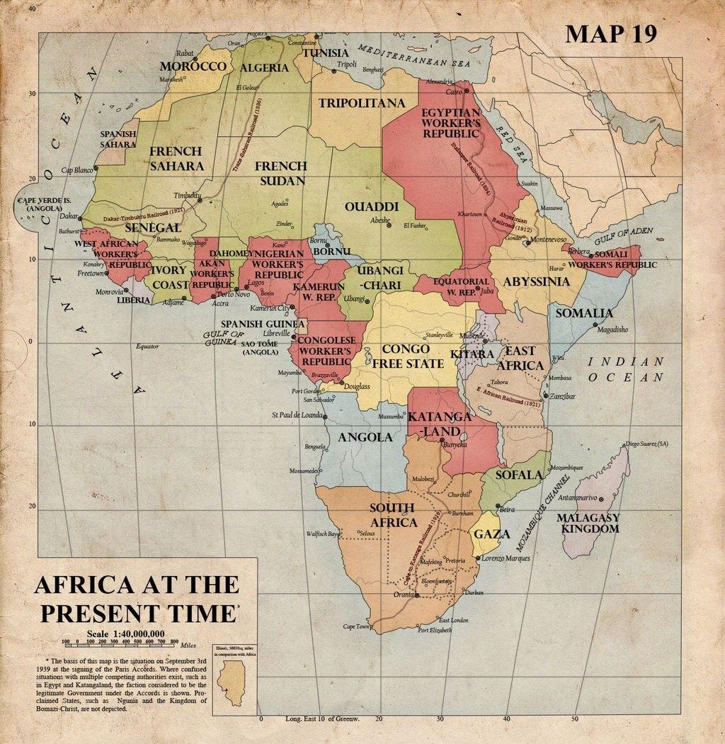 Map Of Africa 1940 | Deboomfotografie | maps | Pinterest | Map ...