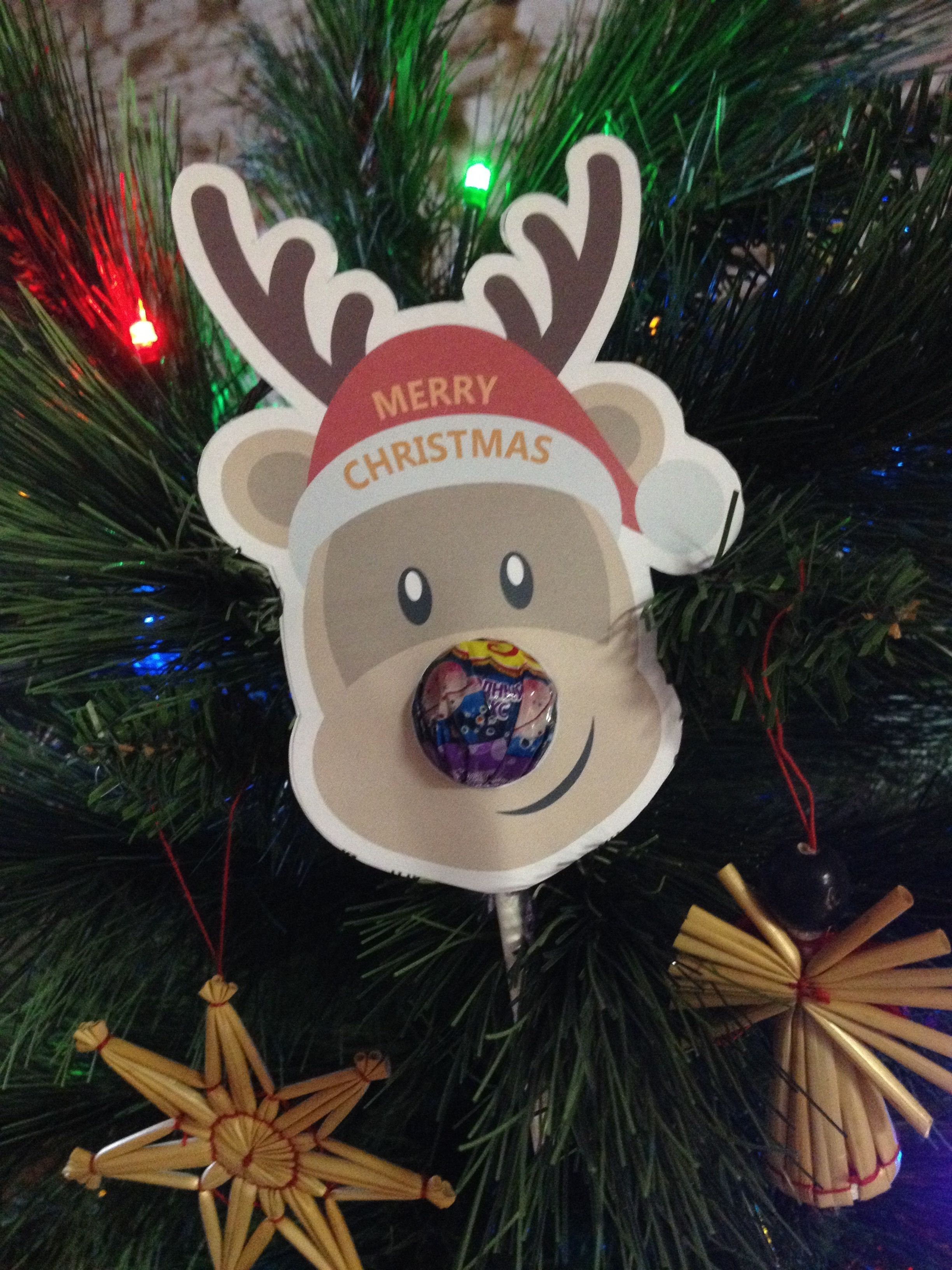 EnovaPoint Company 2014 Christmas gift - Lollipop nose reindeer ...