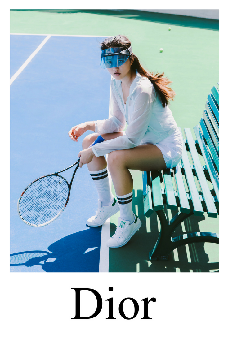 636f295016e New this summer the Dior Club1 visor is becoming the hottest look for on  and off the tennis court.
