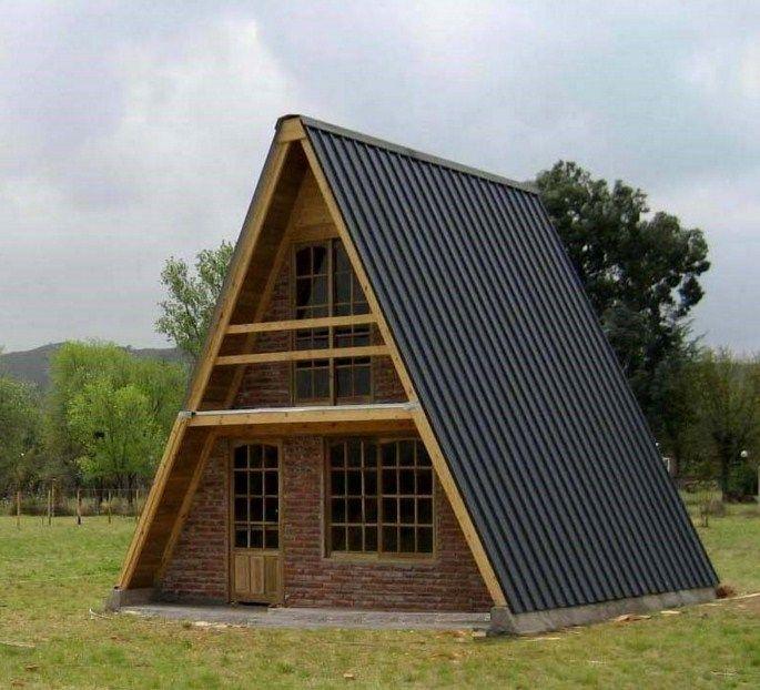 Fachadas de casas alpinas Casas Pinterest Cabañas pequeñas - fachada madera