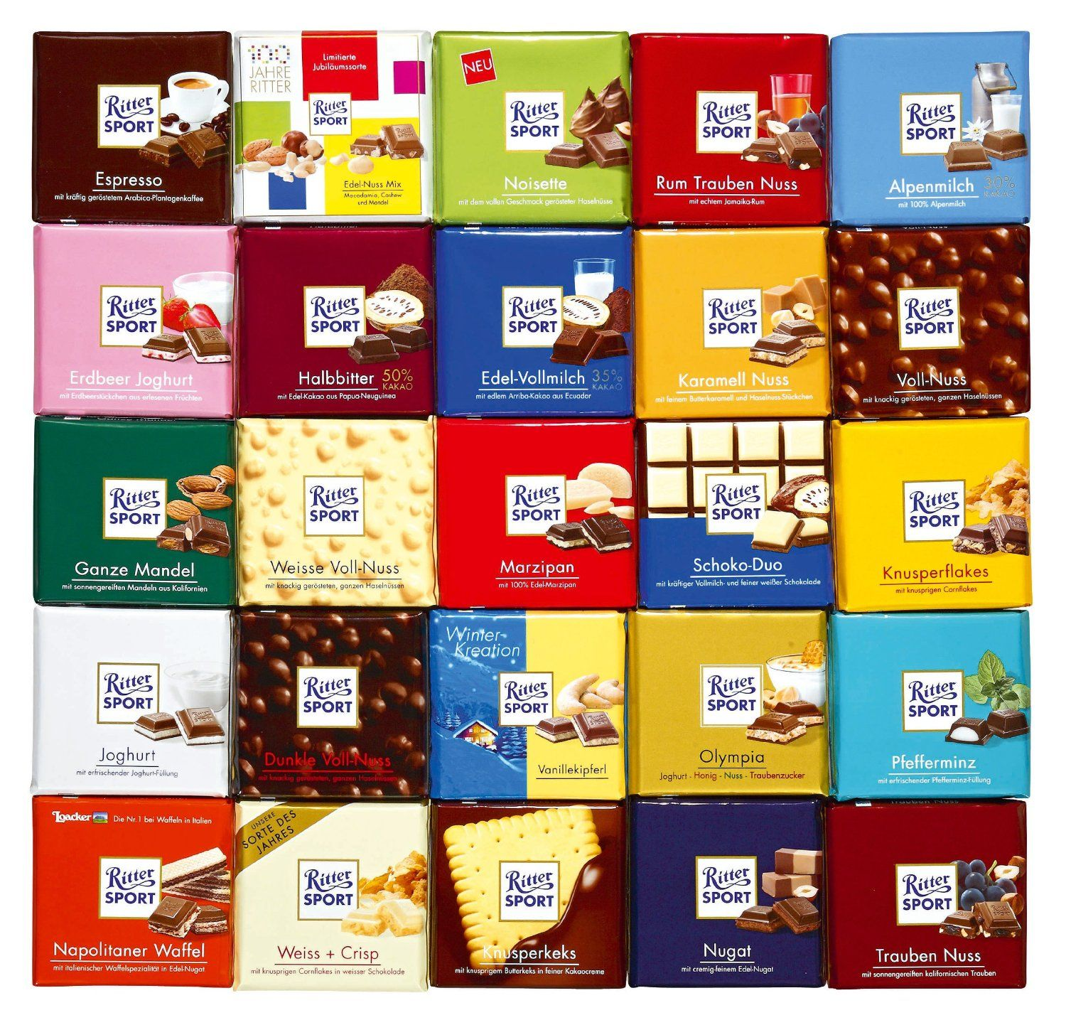 Ritter Sport chocolate | new found sweets for me | Pinterest ...