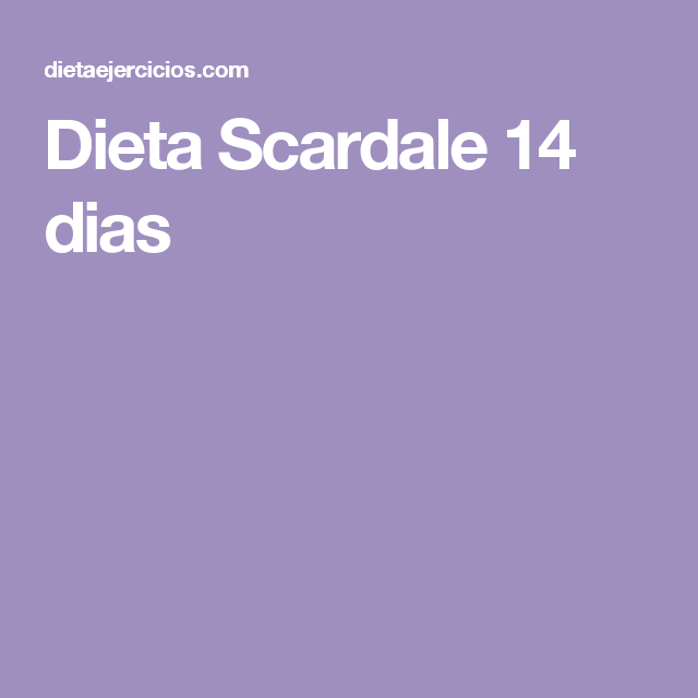 Dieta de 14 dias para adelgazar