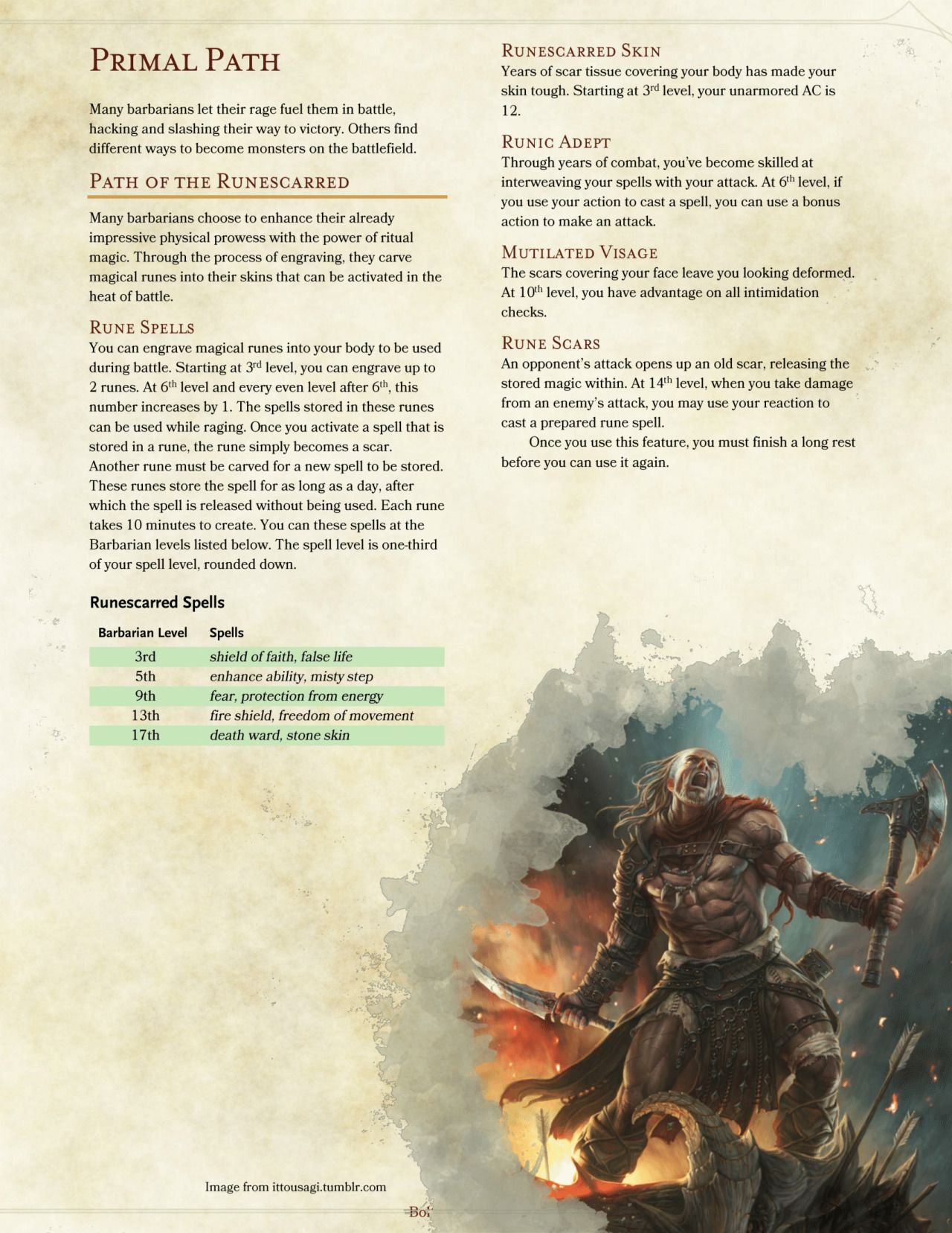 Dnd 5e Homebrew Barbarian Dnd Dnd 5e Homebrew Dungeons And Dragons Classes