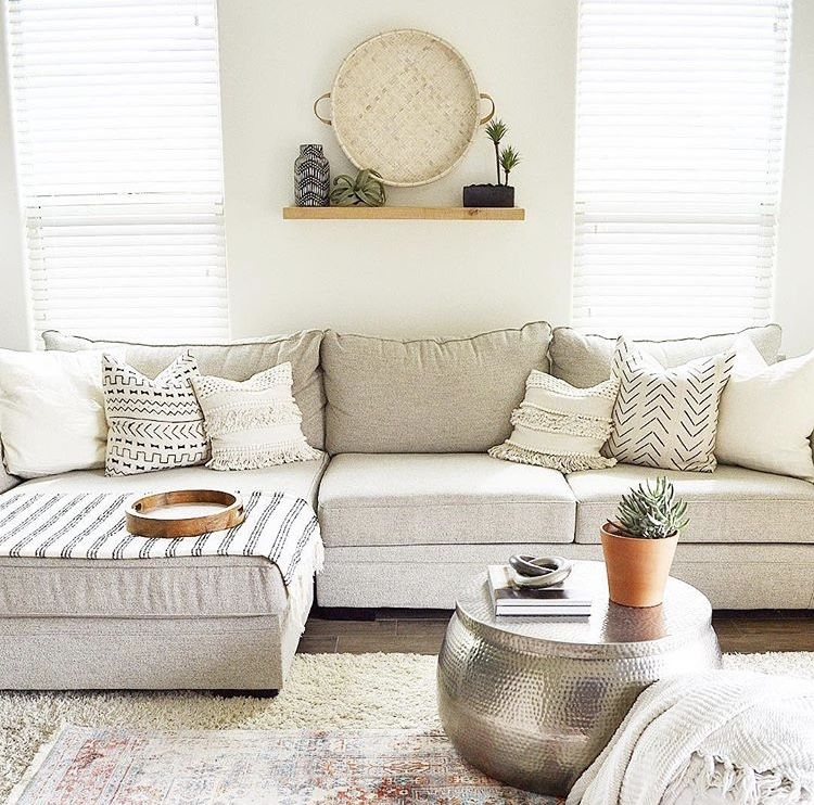 The Off White Delano 2 Piece Sectional With Oversized Chaise Brings Bright And Light Vibes Just In Time For Spring G Home Living Room Remodel Home Living Room