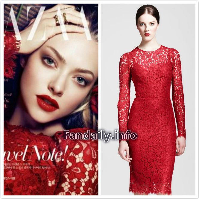 Dolce Gabbana Red Dress Lace Google Search