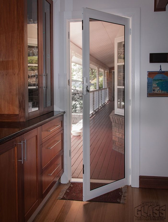 Crimsafe Ultimate door; Hinged kitchen door part of our installation in Mudgeeraba. & Crimsafe Ultimate door; Hinged kitchen door part of our ... pezcame.com