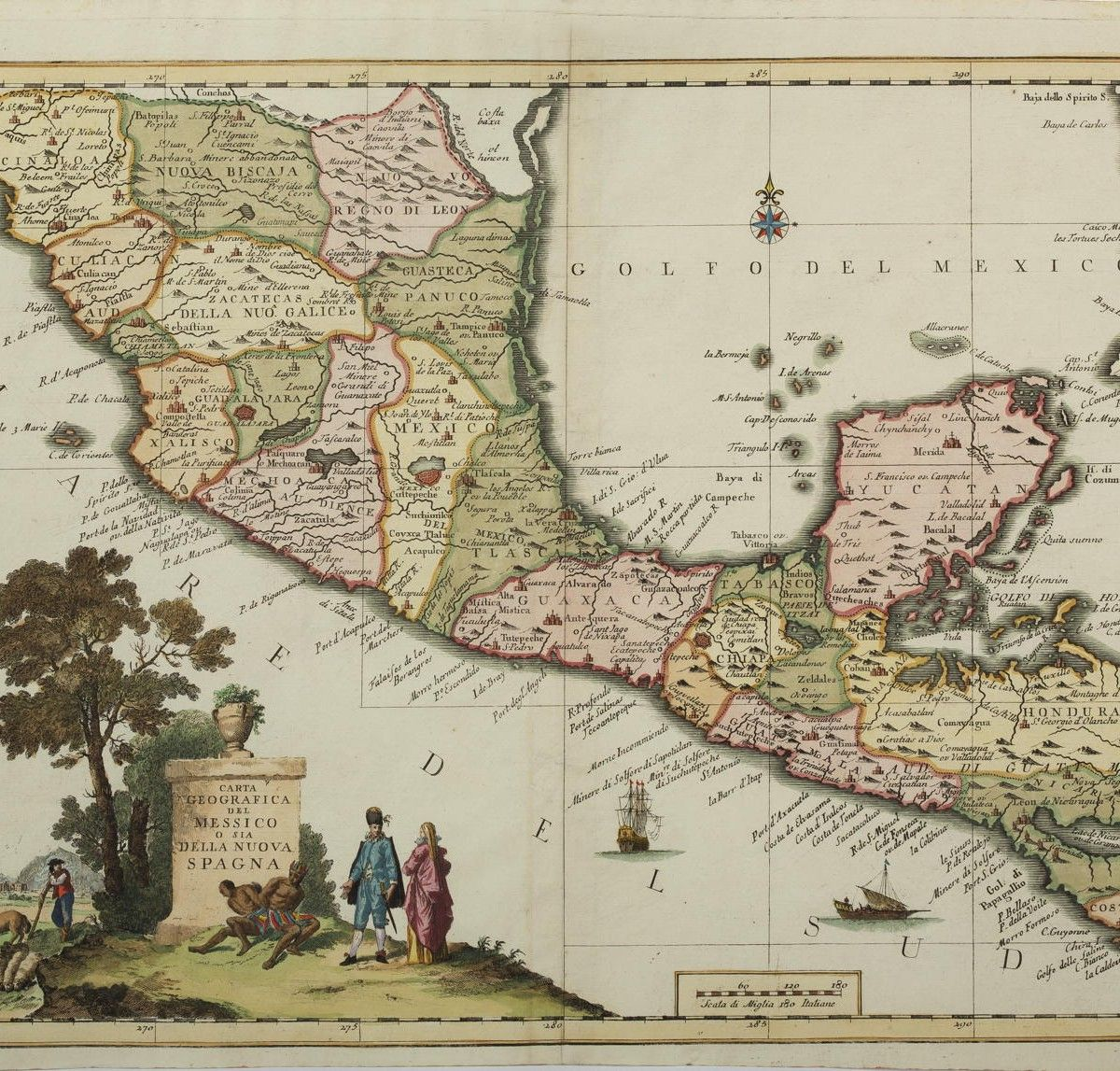 Map of Mexico ENGRAVED MAP OF MEXICO