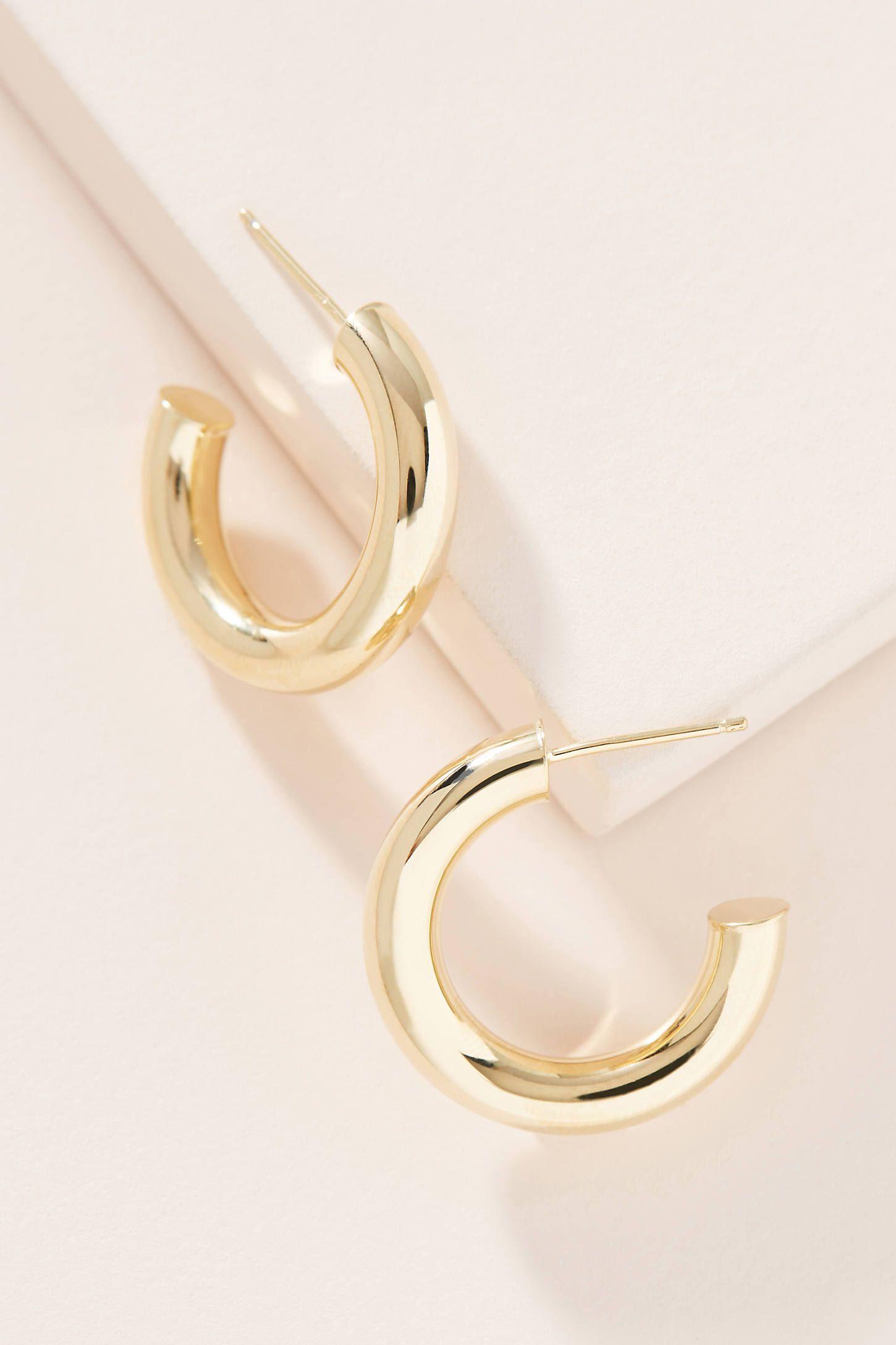 TOPSHOP Open Hoop and Stud Earrings in