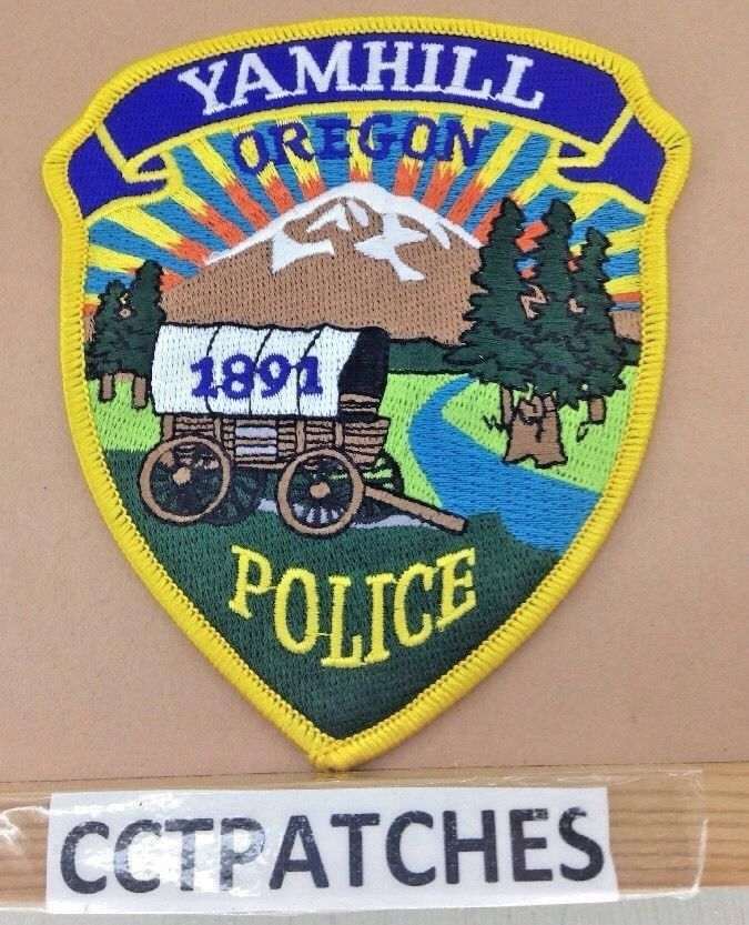 Yamhill, Oregon Police Shoulder Patch Or • 8.99 Patches