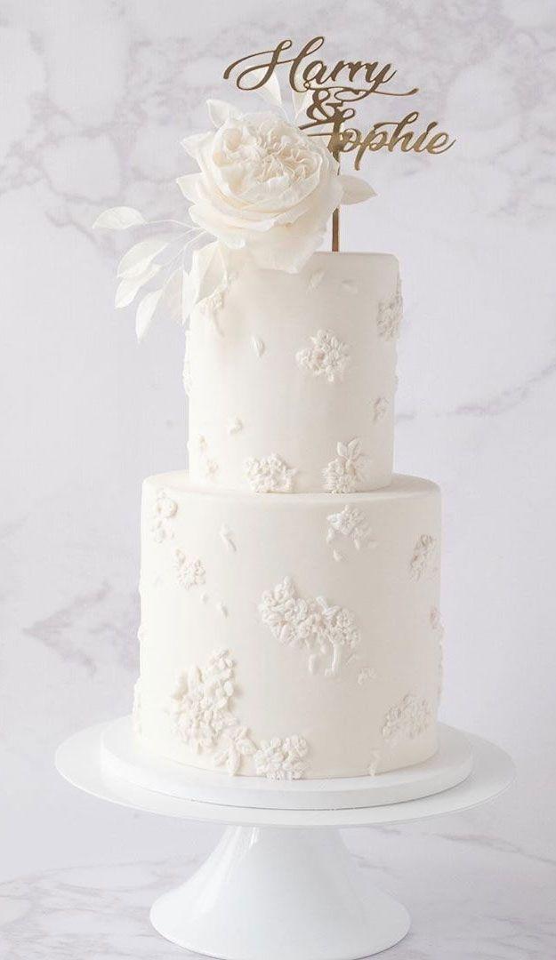 white wedding cake, unique wedding cake, pretty wedding cakes wedding cakes