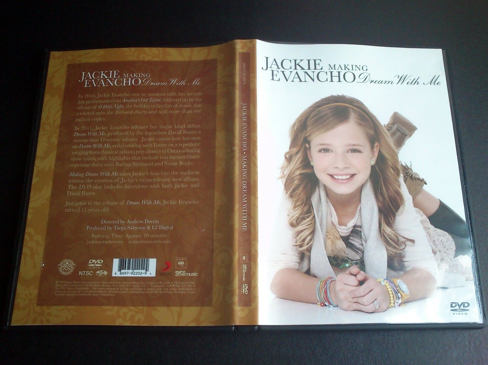 Jackie Evancho Making Dream With Me 2011 Us Dvd Limited W David Foster Jackie Evancho Jackie The Fosters