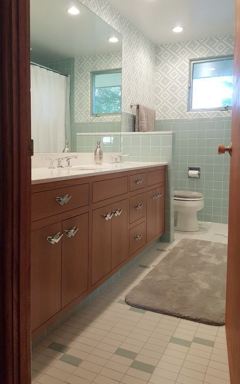 15 Midcentury Modern And Retro Style Bathroom Vanities Built New
