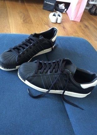 Adidas Originals Superstar durchgängig schwarz mit Fell