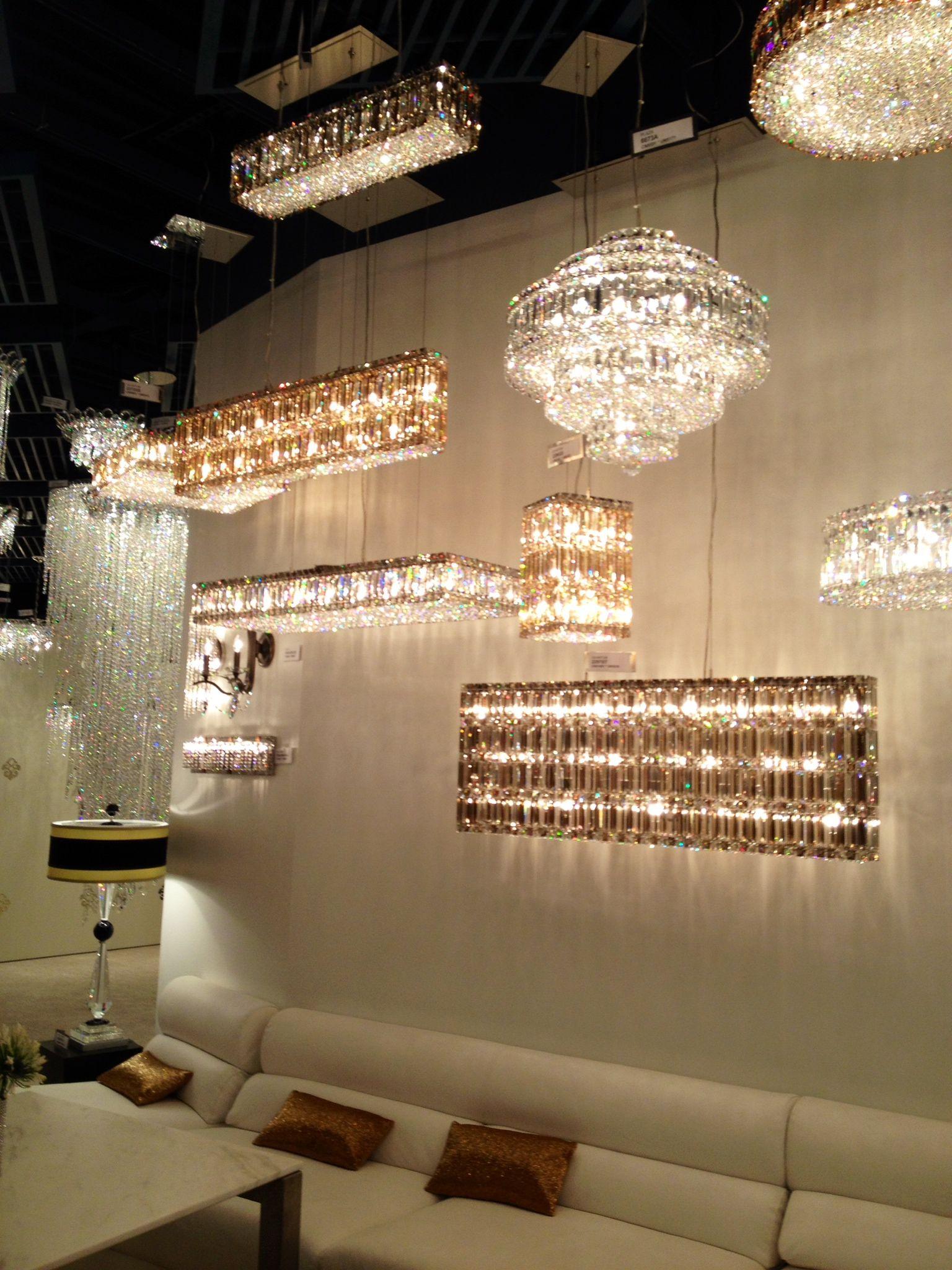 Oh so sparkly Schonbek chandeliers JuneSneakPeek