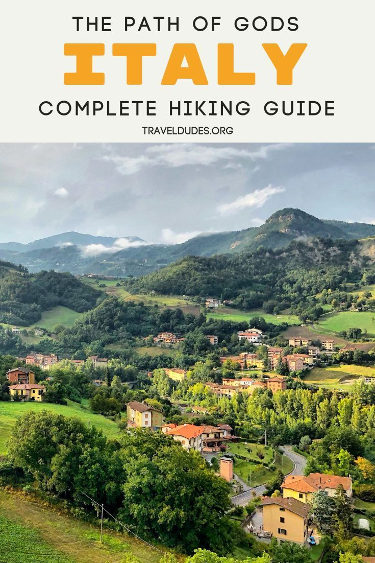 How to hike The Path of Gods from Bologna to Florence in Italy. Practical tips for preparing for your slackpacking trek along this beautiful offbeat hiking route that will take you through rural Italian towns and villages and to scenic lakes and traditional restaurants. Adventure travel in Italy. | Travel Dudes Travel Community #Travel #TravelTips #TravelGuide #Wanderlust #BucketList #Italy #Florence #Bologna #Italia #Hiking #Trekking #Slackpacking #Europe