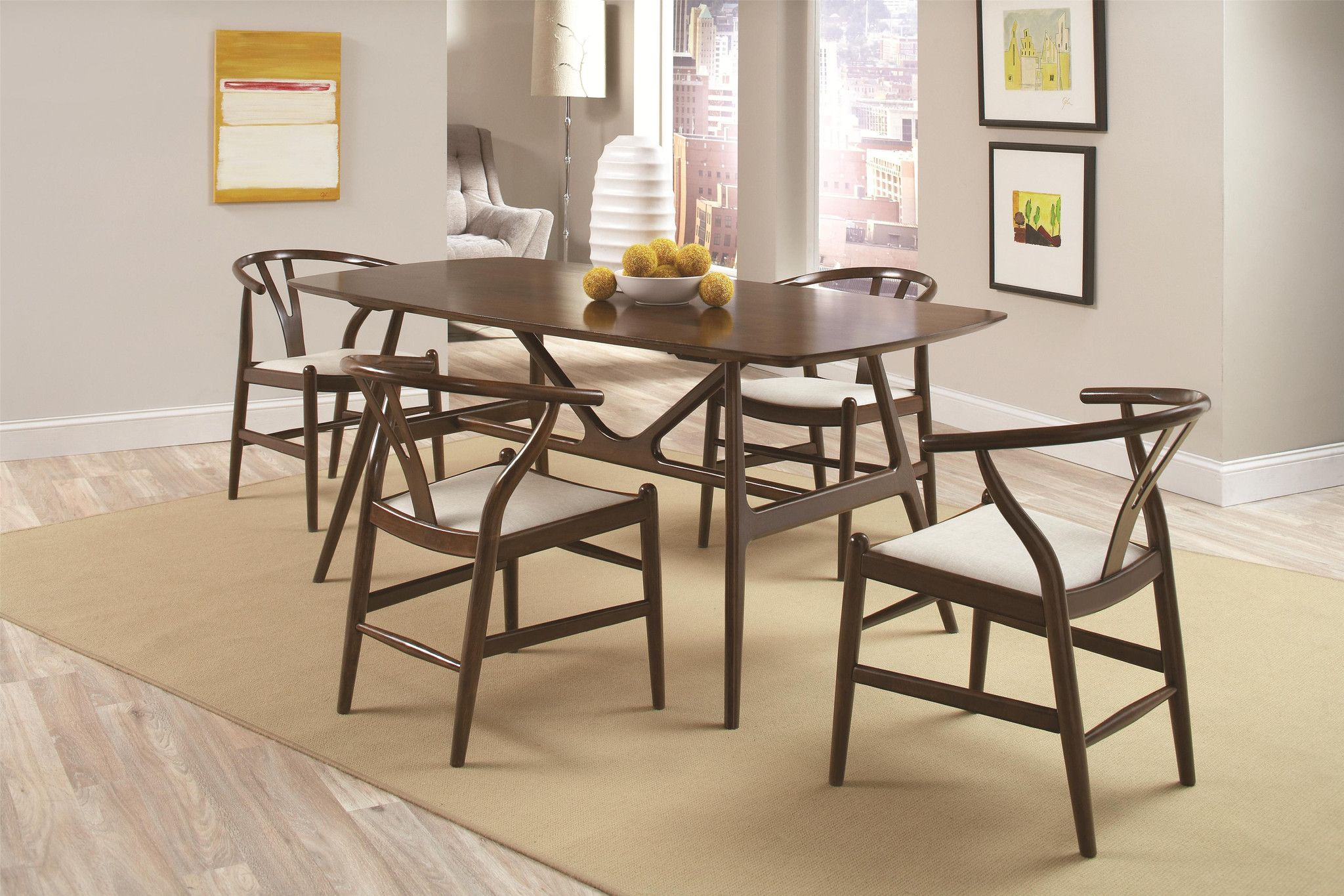 The Keresey Dining Set By Coaster Fine Furniture 102851 52x4