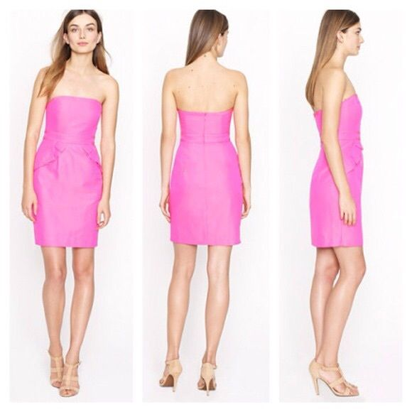 SALESOLD OUT Strapless pink j.crew dress Worn once, perfect condition. No trades. Make me a reasonable offer through the offer button J. Crew Dresses Mini