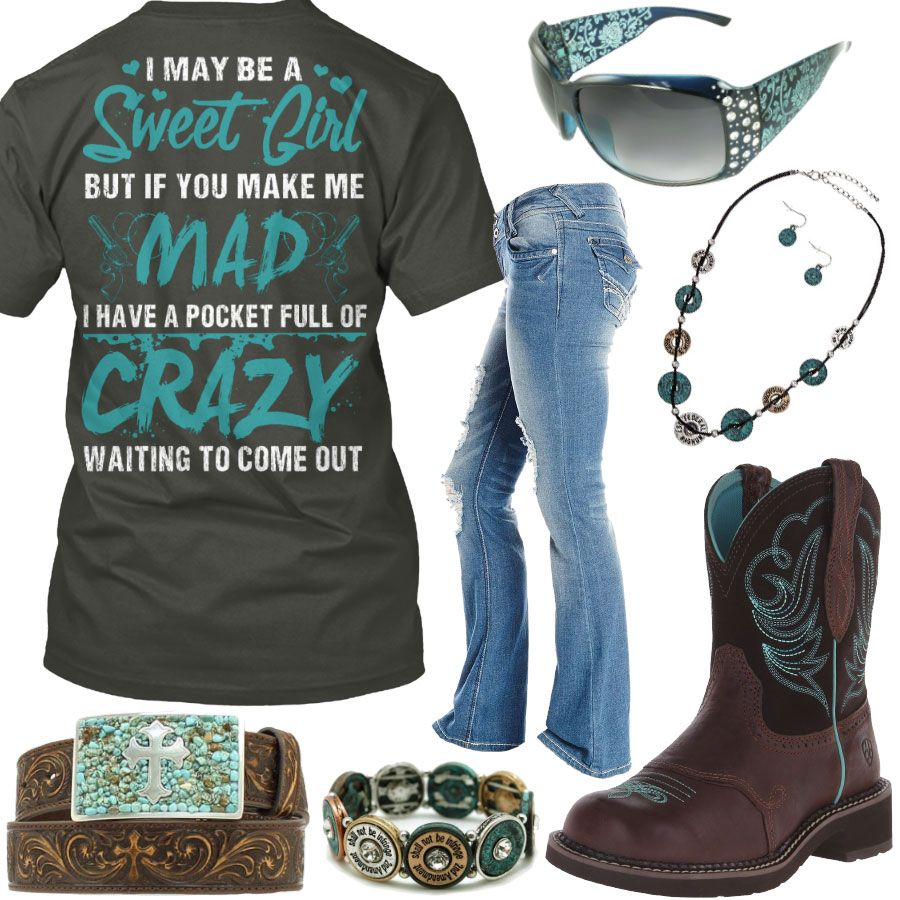 I May Be A Sweet Girl Ariat Fatbaby Boots Outfit - Real Country Ladies f93b9ce8c8294